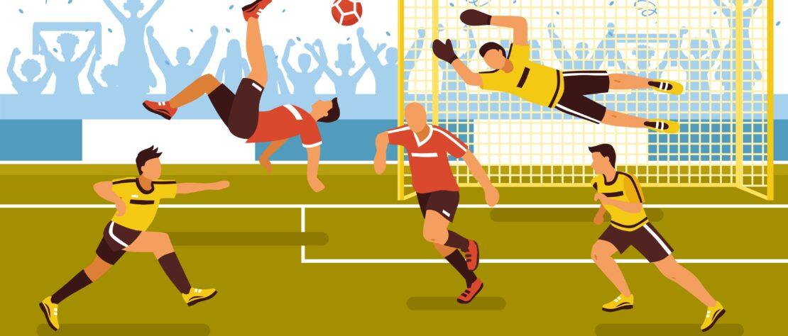 On Soccer Pitch Background